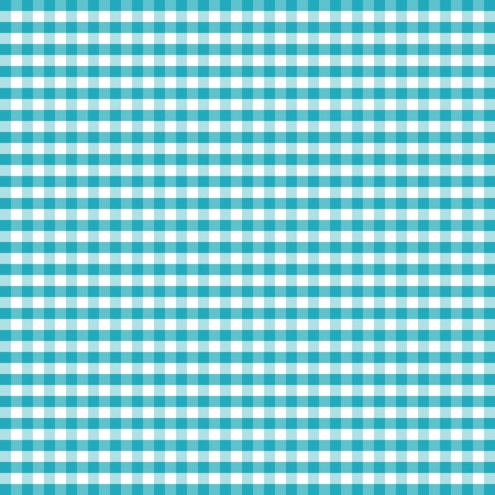 Seamless Pattern, Turquoise and White Gingham Check Background    Vector