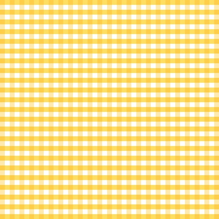 Seamless Pattern, Yellow and White Gingham Check Background     Vector