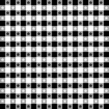 Seamless tovaglia, nero gingham controllare EPS8 file include campione di pattern che senza soluzione di continuità riempire qualsiasi forma per pic-nic, ristoranti, bar, bistrot, decorazione della casa, arte, artigianato, album, album Archivio Fotografico - 13043246