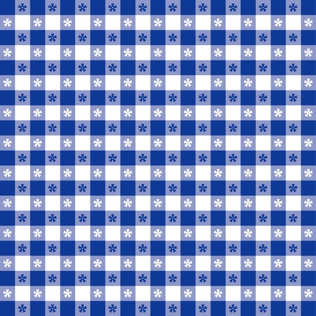 Naadloos tafelkleed patroon, blauw geruit controleren EPS8 bestand bevat patroonstaal dat elke vorm zal naadloos te vullen voor picknicks, restaurants, cafes, bistro's, woonaccessoires, kunst, kunstnijverheid, plakboeken, albums Stock Illustratie