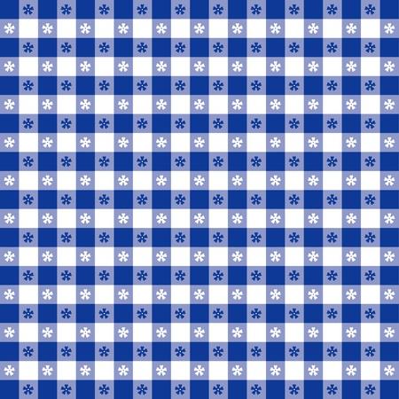 Seamless tovaglia, blue gingham controllare EPS8 file include campione di pattern che senza soluzione di continuità riempire qualsiasi forma per pic-nic, ristoranti, bar, bistrot, decorazione della casa, arte, artigianato, album, album Vettoriali
