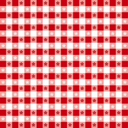 spachteln: Nahtlose Tischdecke Muster, �berpr�fen rot karierten EPS8 Datei enth�lt Muster-Farbfeld, das sich nahtlos f�llen wird eine beliebige Form f�r Picknicks, Restaurants, Cafes, Bistros, zu Hause Dekoration, Kunst, Kunsthandwerk, Sammelalben, Fotoalben Illustration