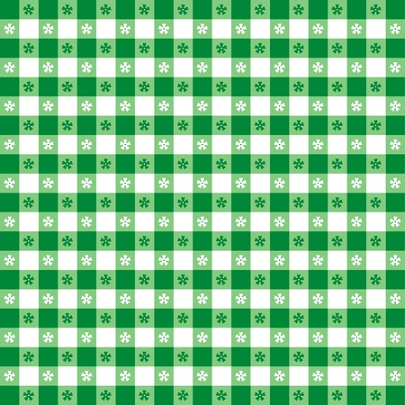picnic tablecloth: Seamless tablecloth pattern, green gingham check  EPS8 file includes pattern swatch that will seamlessly fill any shape  For picnics, restaurants, cafes, bistros, home decorating, arts, crafts, scrapbooks, albums   Illustration