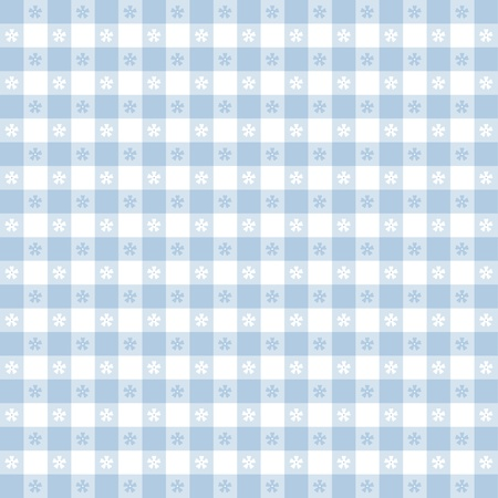 Seamless tablecloth pattern, pastel blue gingham check  EPS8 file includes pattern swatch that will seamlessly fill any shape  For picnics, restaurants, cafes, bistros, home decorating, arts, crafts, scrapbooks, albums Stock Vector - 13043253