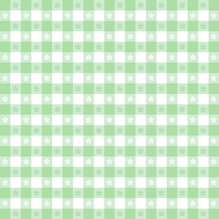 Seamless tablecloth pattern, pastel green gingham check  EPS8 file includes pattern swatch that will seamlessly fill any shape  For picnics, restaurants, cafes, bistros, home decorating, arts, crafts, scrapbooks, albums  Stock Vector - 13043254