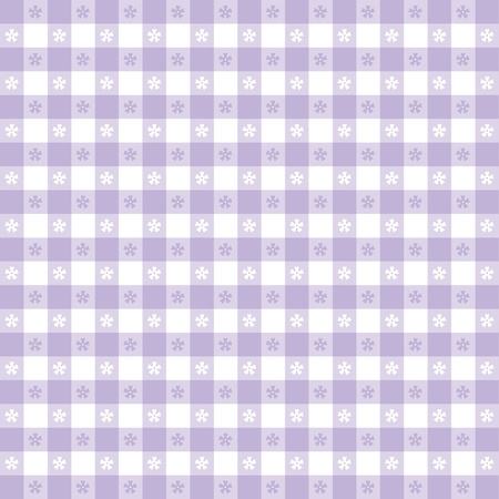 Seamless tablecloth pattern, pastel lavender gingham check  EPS8 file includes pattern swatch that will seamlessly fill any shape  For picnics, restaurants, cafes, bistros, home decorating, arts, crafts, scrapbooks, albums Stock Vector - 13043250