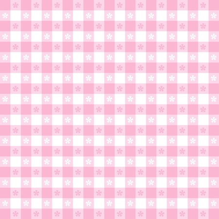 Seamless tablecloth pattern, pastel pink gingham check   EPS8 file includes pattern swatch that will seamlessly fill any shape  For picnics, restaurants, cafes, bistros, home decorating, arts, crafts, scrapbooks, albums  Vector