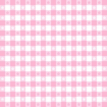 kontrolovány: Seamless ubrus vzor, pastel růžová check gingham EPS8 soubor obsahuje políčko vzorku, který bude bez problémů vyplnit jakýkoliv tvar pro pobyt v přírodě, restaurací, kaváren, bister, domácí zdobení, umění, řemesla, alba, alba