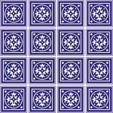 Naadloze Tegels met Mexicaanse Keramiek Design Vector Illustratie