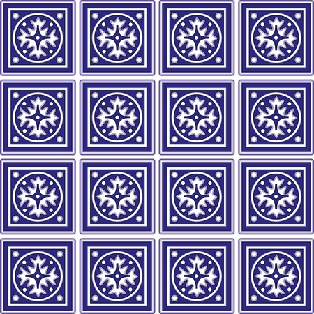 Seamless Tiles with Mexican Ceramic Design Vector