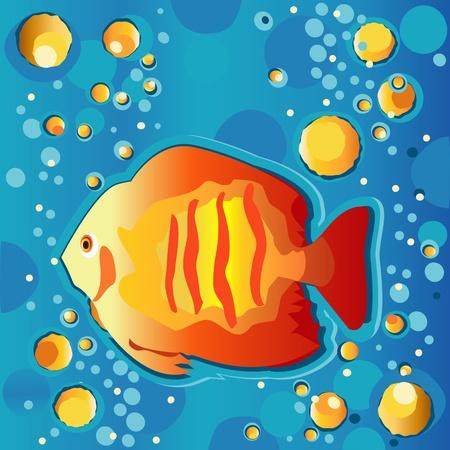 Tropical Fish Swimming Underwater Vector