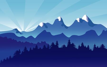Paesaggio di montagna con Alpine Snow