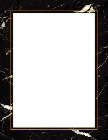 Black Marble Frame Vector