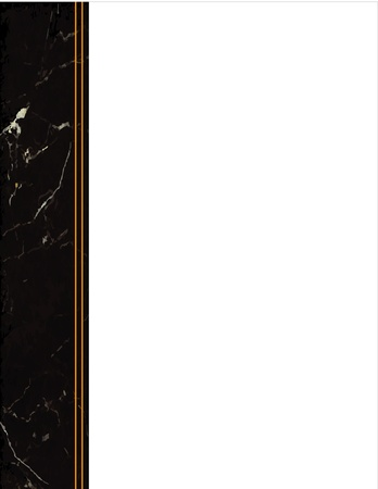 Black Marble Side Frame Vector