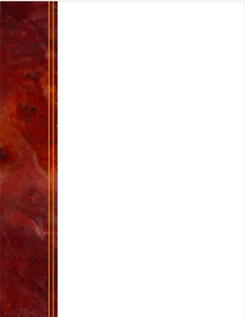 Red Marble Side Frame Vector