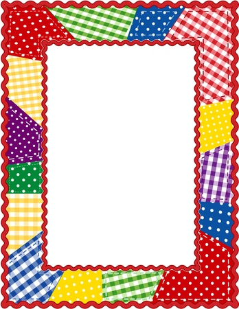 Patchwork Quilt Frame Stock Vector - 13211721