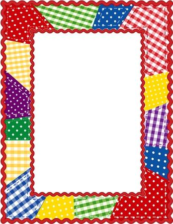 stationery border: Patchwork Quilt Frame