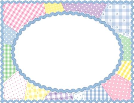 Pastel Patchwork Quilt Frame Vettoriali