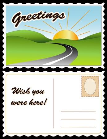 Travel Postcard Stock Vector - 13237550