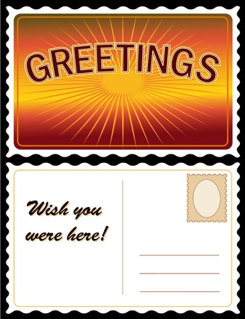 Greetings Travel Postcard Stock Vector - 13237548