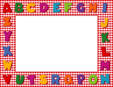 Gingham Alphabet Frame with Copy Space Stock Vector - 13285805