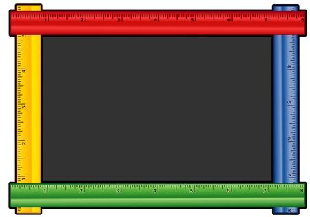 Blackboard Ruler Frame met een kopie ruimte