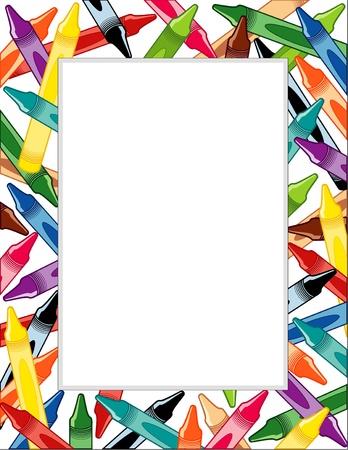Crayon Frame met een kopie ruimte