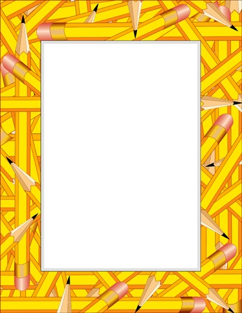 Pencil Frame with copy space Stock Vector - 13458982