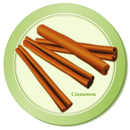 Cinnamon Sticks Spice Icon Stock Vector - 13458995
