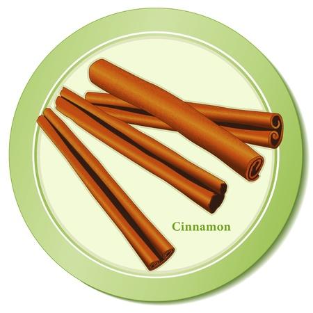 Cinnamon Sticks Spice Icon Stock Illustratie