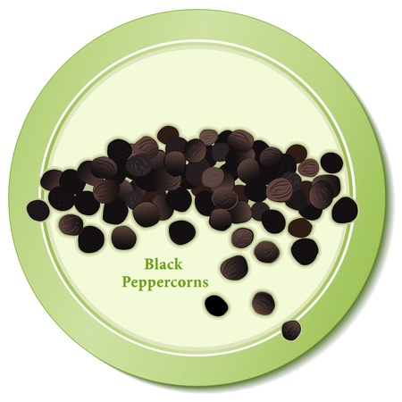 Black Peppercorns Icon