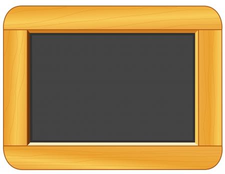 Houten Frame Blackboard met kopie ruimte voor onderwijs en terug naar school projecten