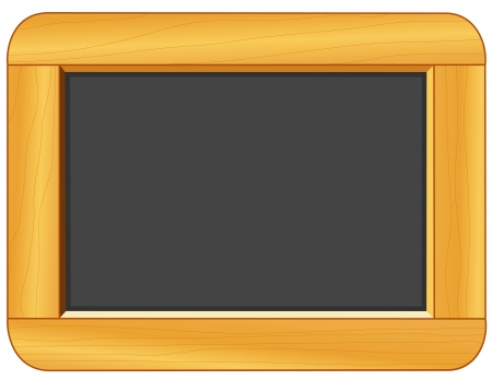 Wood Frame Blackboard with copy space for education and back to school projects Vector