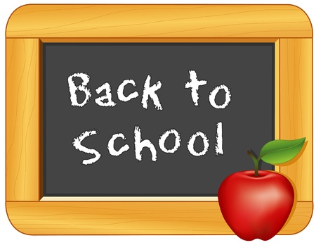 Back to School Blackboard with an Apple for the Teacher Vector