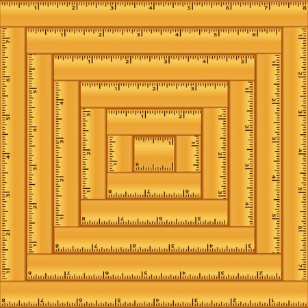 square ruler: Back to School Wood Rulers Background