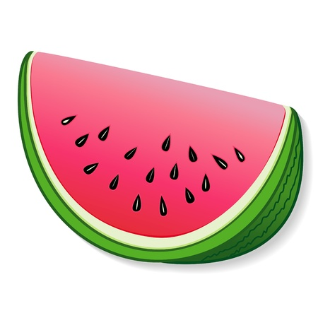 Watermelon illustration isolated on white  EPS8 compatible  Stock Illustratie