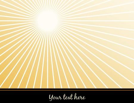 Poster background with copy space, gold ray star burst pattern  Ilustração