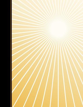 Poster achtergrond met kopie ruimte, gouden straal ster Burst-patroon Stock Illustratie