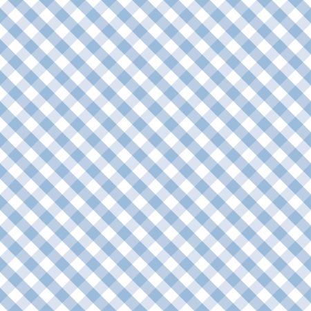 Naadloze Cross Weave Gingham patroon in pastel blauw en wit bevat patroonstaal die naadloos zal vullen het even welke vorm Stock Illustratie