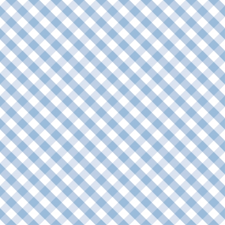 Seamless Cross Weave Gingham pattern in pastel blue and white includes pattern swatch that will seamlessly fill any shape  Vector