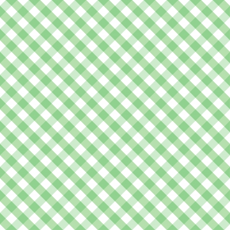 Seamless Cross Weave Gingham pattern in pastel green and white includes pattern swatch that will seamlessly fill any shape  Vector