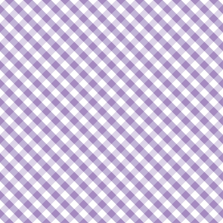 Seamless Cross Weave Gingham pattern in pastel lavender and white includes pattern swatch that will seamlessly fill any shape  Stock Illustratie
