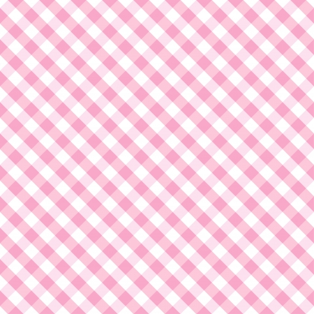 Seamless Cross Weave Gingham pattern in pastel pink and white includes pattern swatch that will seamlessly fill any shape  Vector