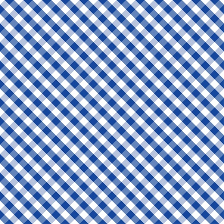 Seamless Cross Weave Gingham Pattern in blue and white includes pattern swatch that will seamlessly fill any shape  Vector