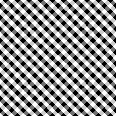 Seamless Cross Weave Gingham Pattern in black and white includes pattern swatch that will seamlessly fill any shape  Vector