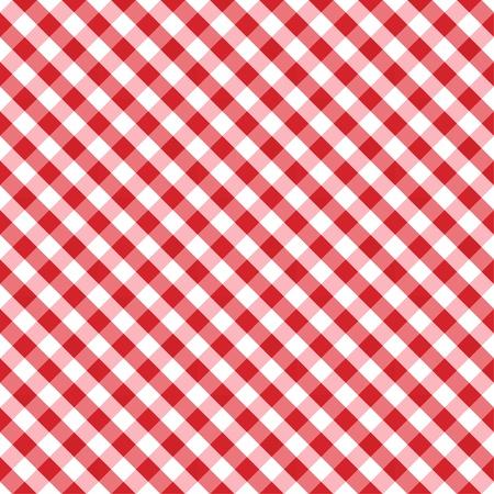 remplir: Seamless Croix Weave vichy mod�le en rouge et blanc comprend nuance de motif qui de fa�on transparente remplir n'importe quelle forme Illustration
