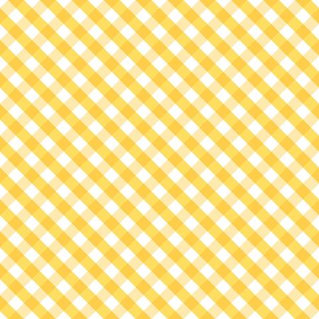 manteles: Impecable en Tejido Patr�n Gingham en amarillo y blanco incluye muestra de motivo a la perfecci�n que llenar� cualquier forma Vectores