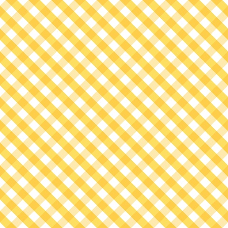 Seamless Cross Weave Gingham Pattern in yellow and white includes pattern swatch that will seamlessly fill any shape  Vector