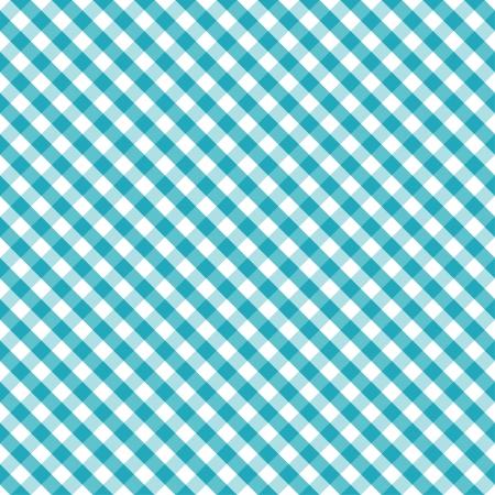 아쿠아: 아쿠아과 흰색 원활한 크로스 직물 깅엄 패턴, 원활하게 어떤 모양을 채울 패턴 견본을 포함
