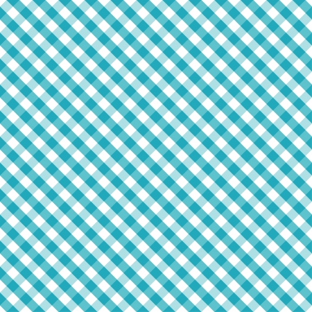 Seamless Cross Weave Gingham Pattern in aqua and white, includes pattern swatch that will seamlessly fill any shape  Stock Illustratie